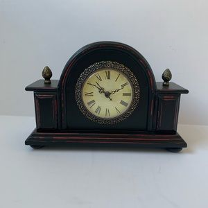 Wooden Table Clock Battery Operated